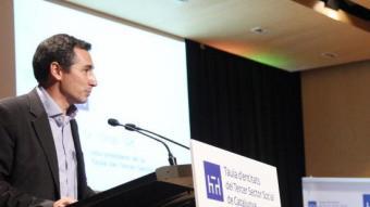 Oriol Illa en la presentació, fa un any, com a nou president de la Taula E. MAGRE