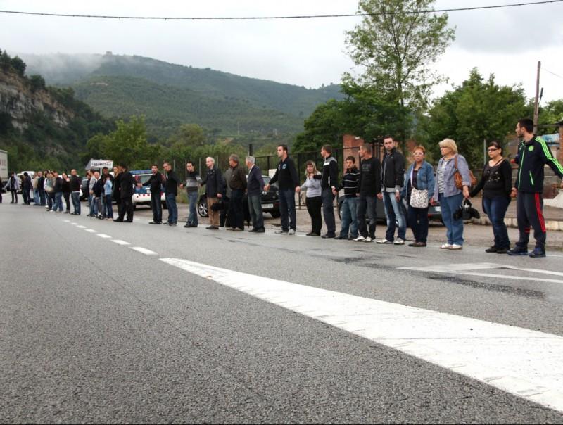 Protesta pels accidents a la C-55 el novembre de 2013 ACN