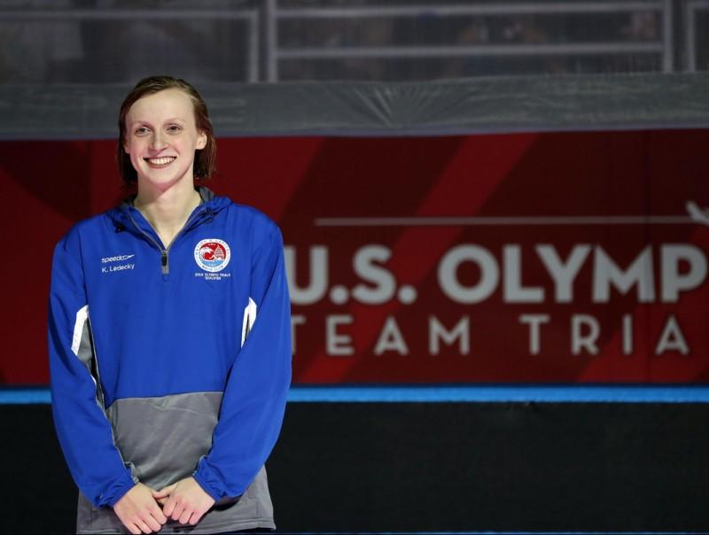 Katie Ledecky després del seu primer triomf REUTERS