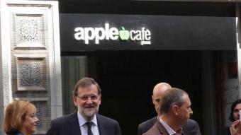Visita de Mariano Rajoy a Girona el setembre de l'any passat. LLUÍS SERRAT