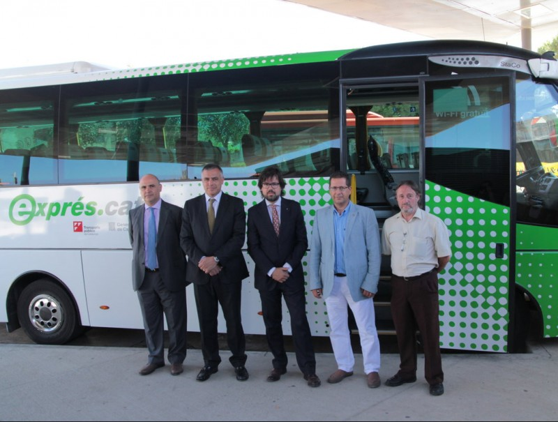 Un dels nous busos exprés d'Ampsa que cobriran l'E2 entre Girona i l'Estartit E.A