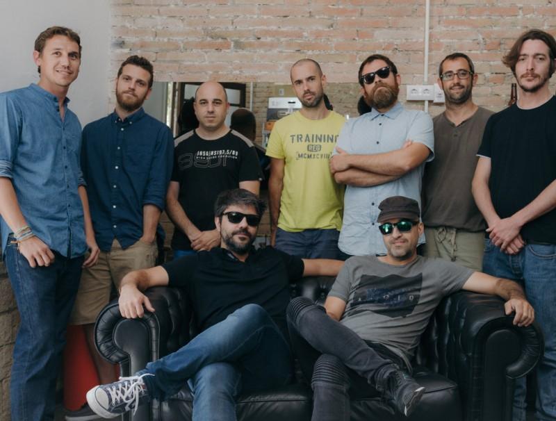 L'equip que forma Broomx Technologies a l aseu de l'empresa que tenen a Barcelona.  ARXIU