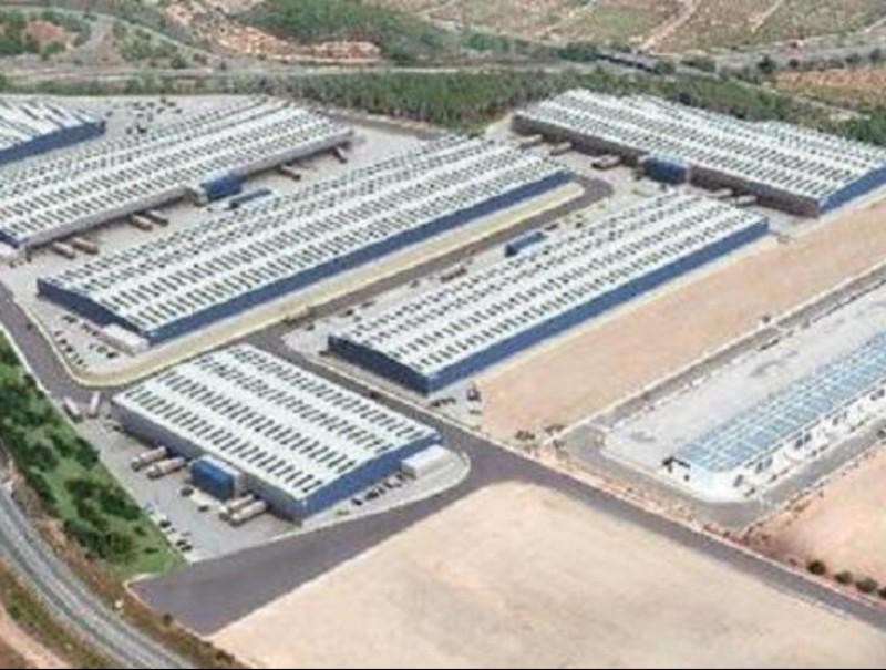 Imatge virtual del projecte de centre logístic que es construiria al costat de l'AP7.