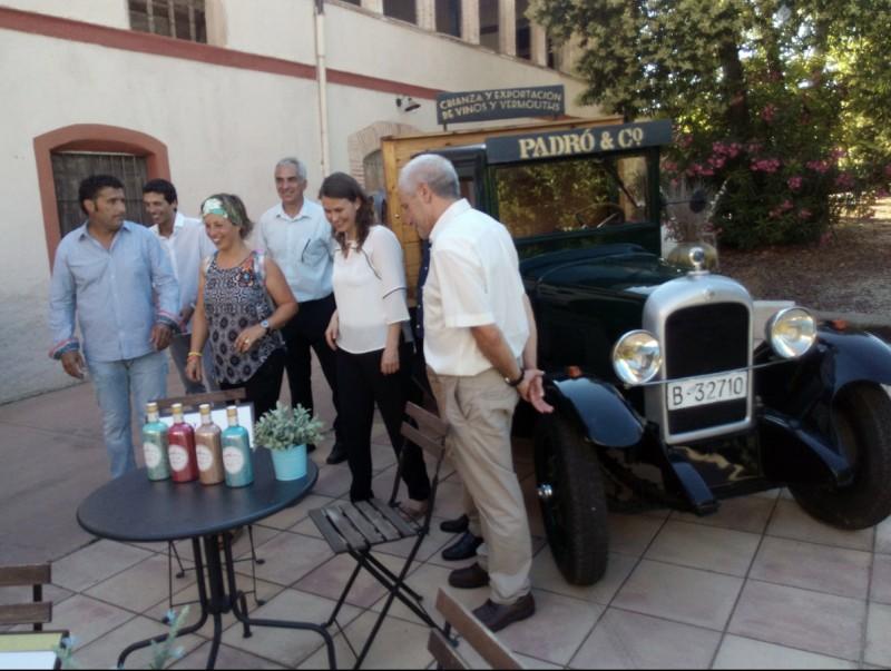 La consellera Meritxell Serret en el decurs de la visita que a les instal·lacions de Vins Padró de Bràfim JOSEP LLUÍS ERAS