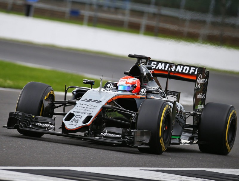 Nikita Mazepin, en acció a Silverstone FORCE INDIA