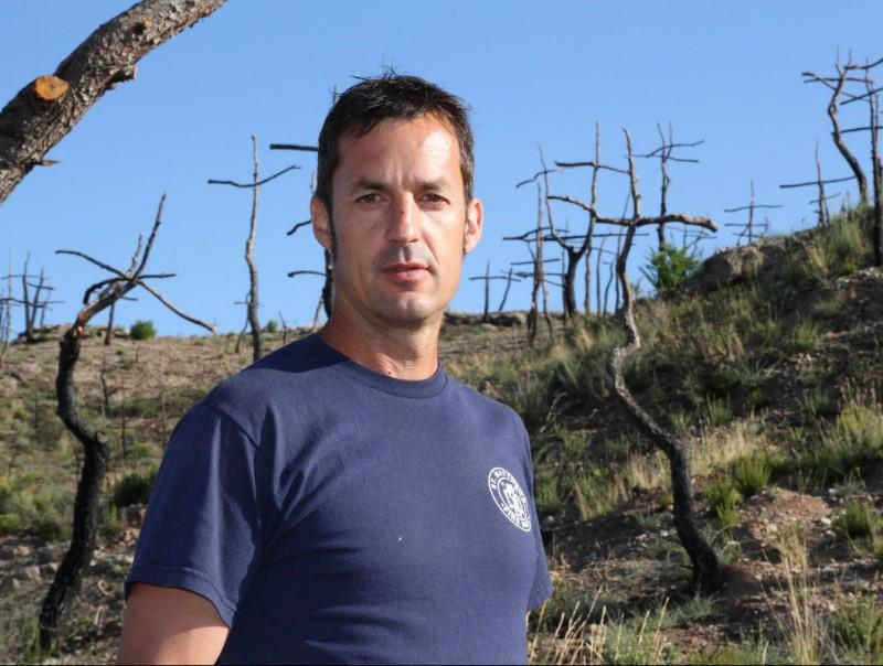Marc Sellarès, al seu Bosc de les Creus. ÒSCAR LÓPEZ