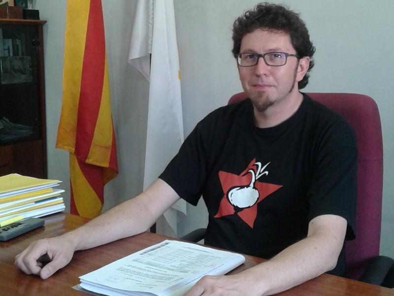 L'alcalde de Navàs, Jaume Casals, en una imatge d'aquesta setmana. MAR VICENTE