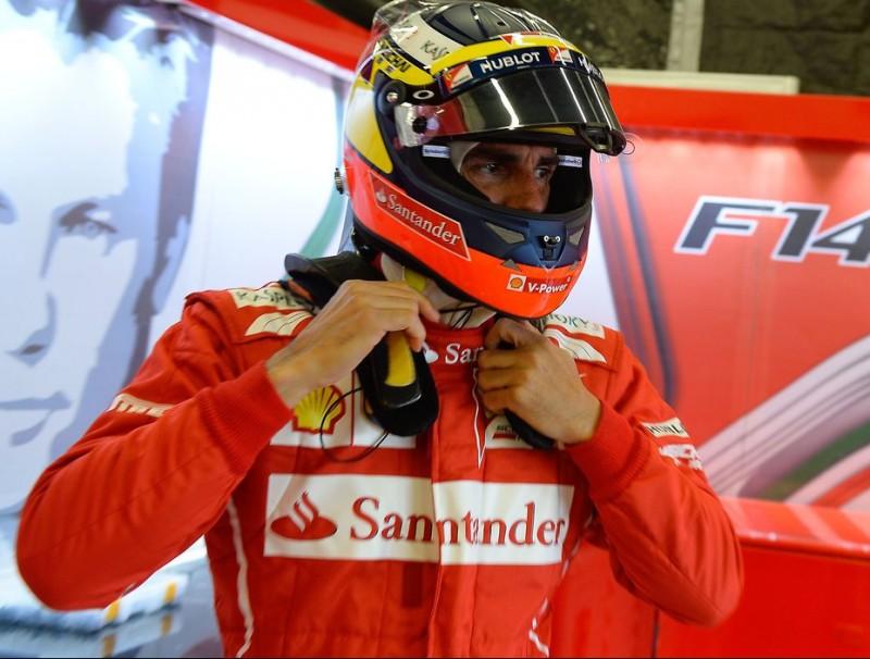 Pedro de la Rosa, l'últim cop que va provar un fórmula 1 a la pista, el 8 de juliol del 2014, a Silverstone, amb Ferrari FERRARI