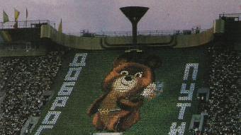 Una imatge de la inauguració dels Jocs de Moscou del 1980 DEPORTE 2000