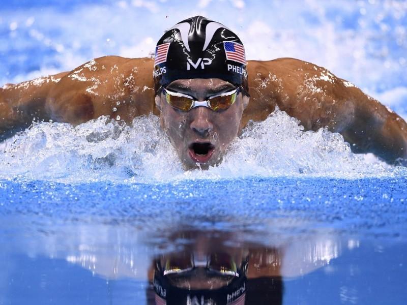 Phelps, en el segment de braça dels 200 m estils AFP