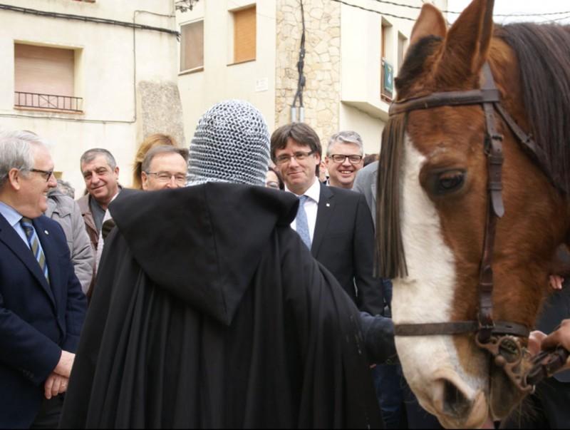 Carles Puigdemont va fer la inauguració oficial de la ruta, que combina realitat i virtualitat, a principis d'abril J.L.E