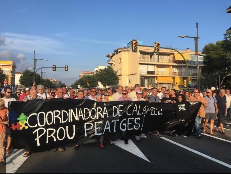 La protesta contra el peatge de la C-32 de divendres passat.