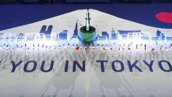 Un muntatge en la cerimònia de clausura convidava els espectadors als pròxims Jocs, els de Tòquio del 2020 REUTERS