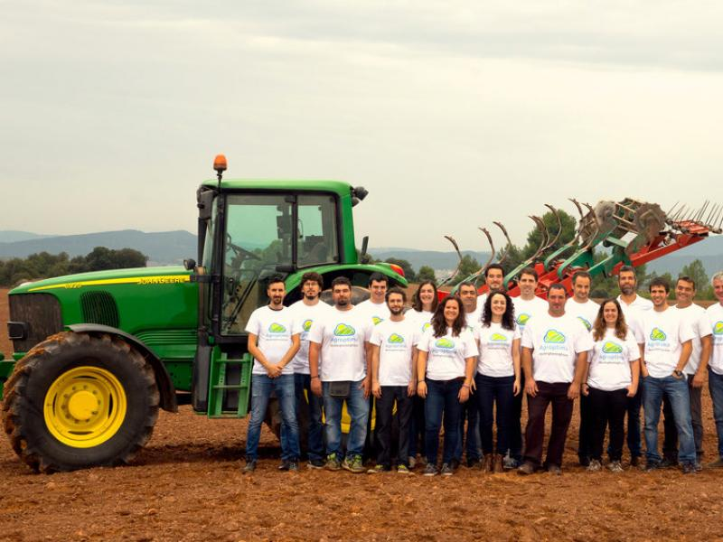 L'equip d'Agroptima en pes.  L'ECONÒMIC