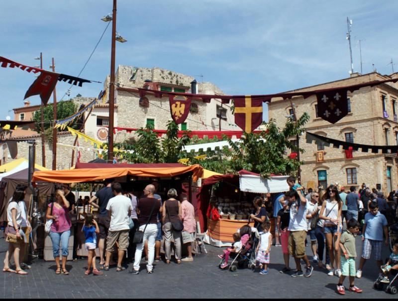 Una imatge del Mercat Medieval de Calafell de l'any passat, que enguany se celebrarà de l'1 al 4 de setembre. Arxiu