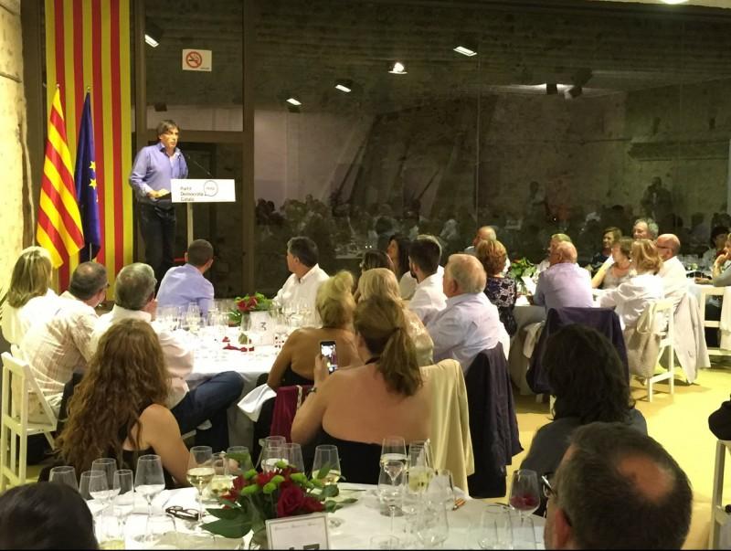 Puigdemont, al sopar del PDC a Calonge EPA