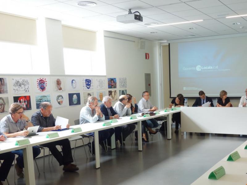 Meritxell Borràs va presidir ahir el Consell d'Alcaldes del Berguedà d'aquest mes de setembre MARC CANTURRI