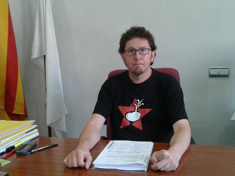 Jaume Casals és l'alcalde de Navàs (CUP) MAR VICENTE