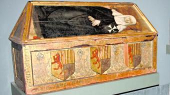 Caixa sepulcral que segueix exposant el Museu de Lleida. ARXIU