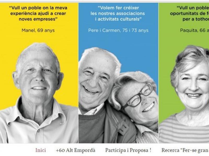 Una imatge del portal www.mes60.cat que es va posar en servei ahir EL PUNT AVUI