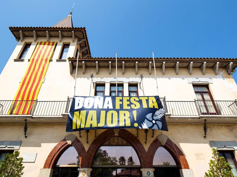 La façana de l'Ajuntament de Sant Vicenç dels Horts, , en una imatge d'arxiu ACN