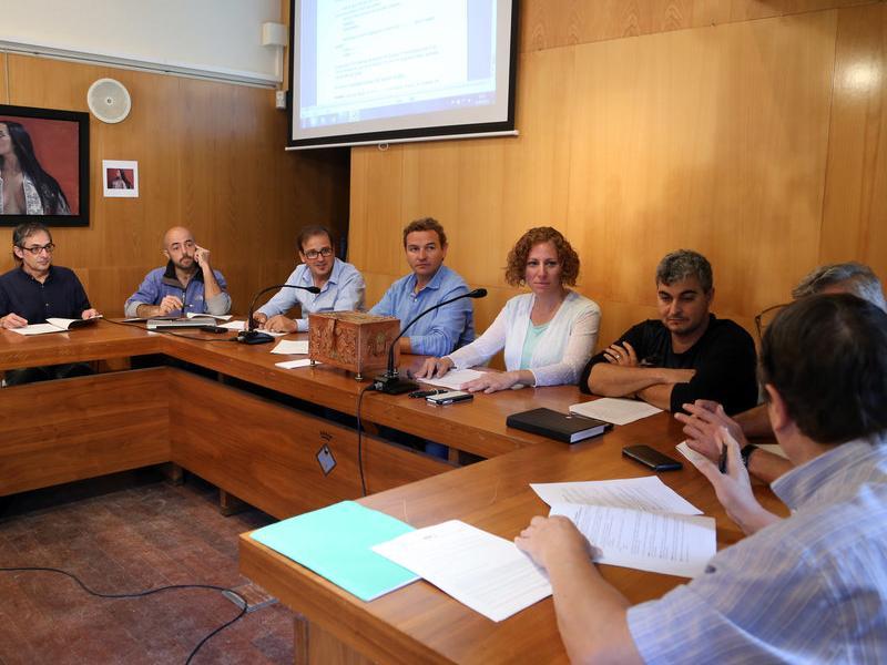 Imatge d'arxiu d'una reunió del Consorci Ter Brugent, amb els alcaldes de la zona. QUIM PUIG
