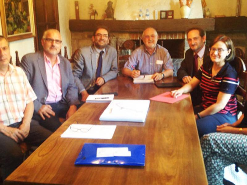 Joan Roma reunit amb els membres de l'ACA AJ. BORREDÀ