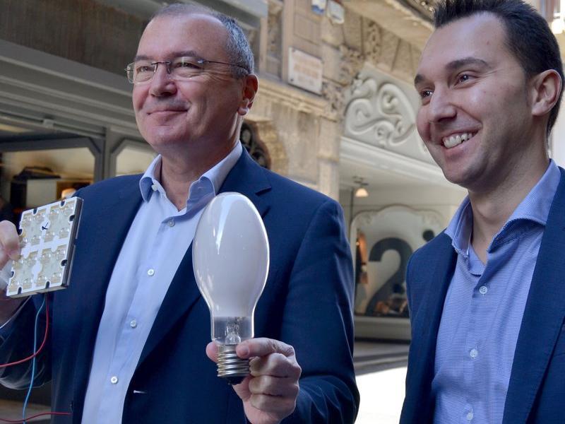 L'alcalde de Reus i el regidor de Medi Ambient ahir a Reus EL PUNT AVUI