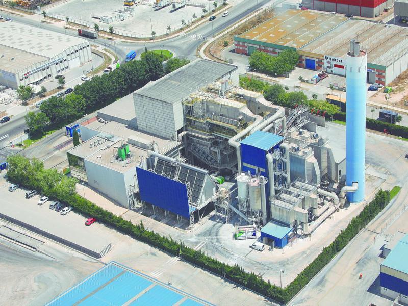 Vista aèria actual de la planta incineradora Sirusa.  INFOCAMP