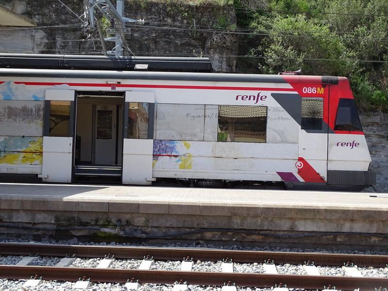 Imatge de l'estació de Renfe de Manresa . JORDI PREÑANOSA