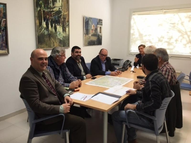 Una imatge de la trobada d'ahir sobre la GI-555 EPA