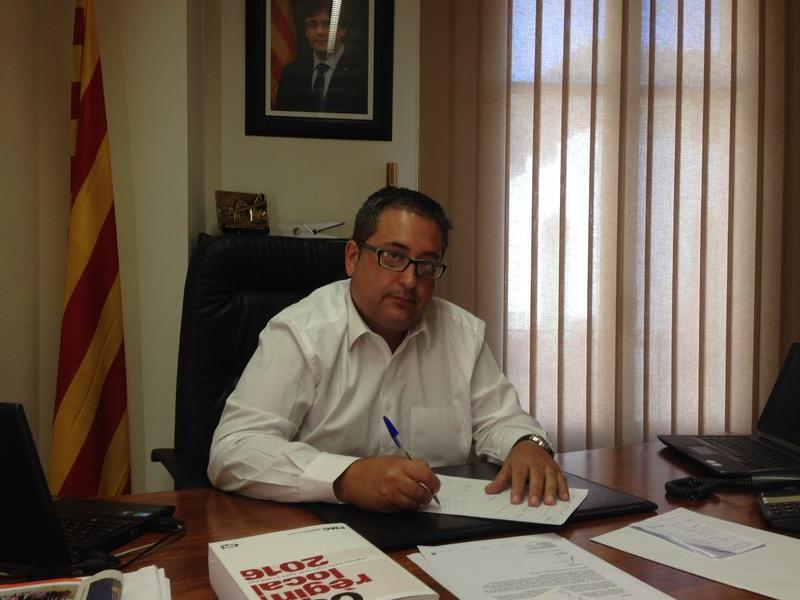 L'alcalde de Móra d'Ebre, Joan Piñol. L'EBRE