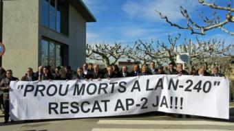 El febrer del 2014, a les Borges Blanques institucions i partits del Camp i Ponent feien pinya exclusivament pel rescat i millores a la N-240 ARXIU