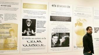 Erick Beltrán, a la seva mostra a la galeria Joan Prats ANDREU PUIG
