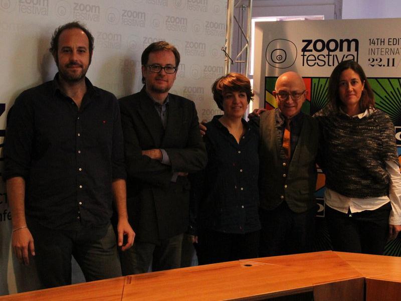 Representants del festival de l'Ateneu Igualadí, de l'Ajuntament i de Movistar+, ahir a la presentació. Ò.L