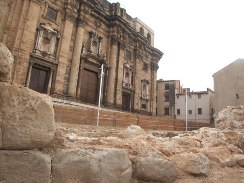 La imatge se situarà a sobre de la portalada central. JUDIT FERNANDEZ