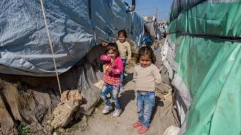 Assentament informal pèr a refugiats siris prop de Zahle, al Líban. AGÈNCIA EP
