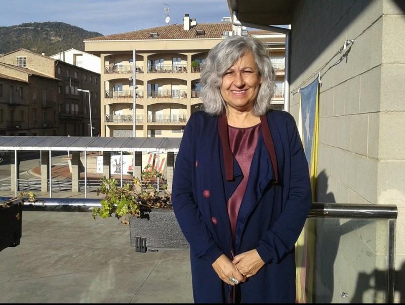 L'alcaldessa d'Avià, Patrocini Canal, en una imatge de divendres. MAR VICENTE