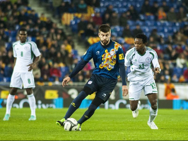 Piqué, en el partit contra Nigèria (gener 2013) JOSEP LOSADA