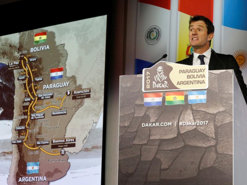 Marc Coma presenta el recorregut del Dakar 2017 REUTERS