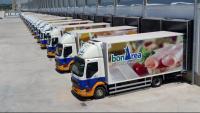 Camions de bonÀrea a la seu Corporació Alimentària Guissona (CAG)