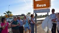 El cartell que es va col·locar el 6 de juny del 2017 a Reus per escenificar l'entrada del municipi del Baix Camp a l'AMI, ara impugnada per la justícia