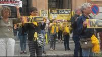Una de les accions del col·lectiu Silenci... Rebel·leu-vos, a Tarragona aquest any