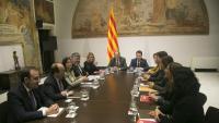 La reunió de la taula de diàleg polític que es va fer al febrer a la Generalitat