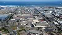 Vista aèria de la planta industrial de Nissan a la zona Franca