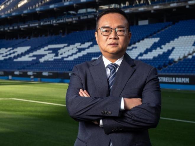 """Chen Yansheng espera que el descens a segona sigui una oportunitat per tornar """"més fort"""" com a club."""