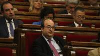 Miquel Iceta, líder del PSC, durant el ple del 16 de maig en el qual es va rebutjar la seva candidatura com a senador