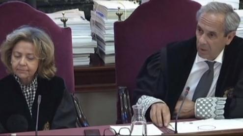 <b>Imatges</b> d'alguns dels participants en el judici per la part del tribunal, les acusacions i les defenses dels processats i que han protagonitzat la batalla legal durant els quatre mesos que ha durat el procés