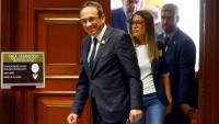 Josep Rull al Congrés, quan va recollir les seves credencials de diputat el 20 de maig