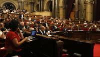 Una imatge general del ple del Parlament de fa dues setmanes